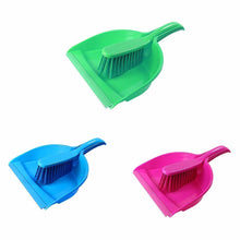 Load image into Gallery viewer, Plastic Assorted Colours Dustpan And Brush Kitchen Home 0405 (Parcel Rate)