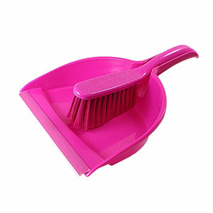 Plastic Assorted Colours Dustpan And Brush Kitchen Home 0405 (Parcel Rate)