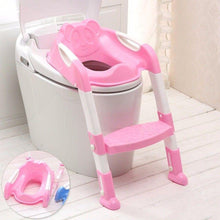 Load image into Gallery viewer, Childrens Toilet Ladder, Teddy Design Toilet Ladder In Pink 59cm 2548 (Parcel Rate)