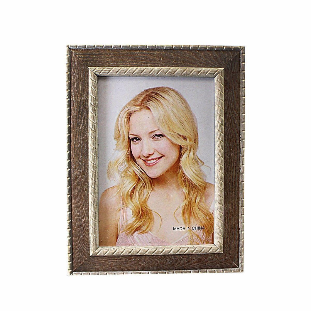 Brownish Plated Photo Frame Ideal For Portrait Pictures 4'' x 6'' 3626 (Parcel Rate)
