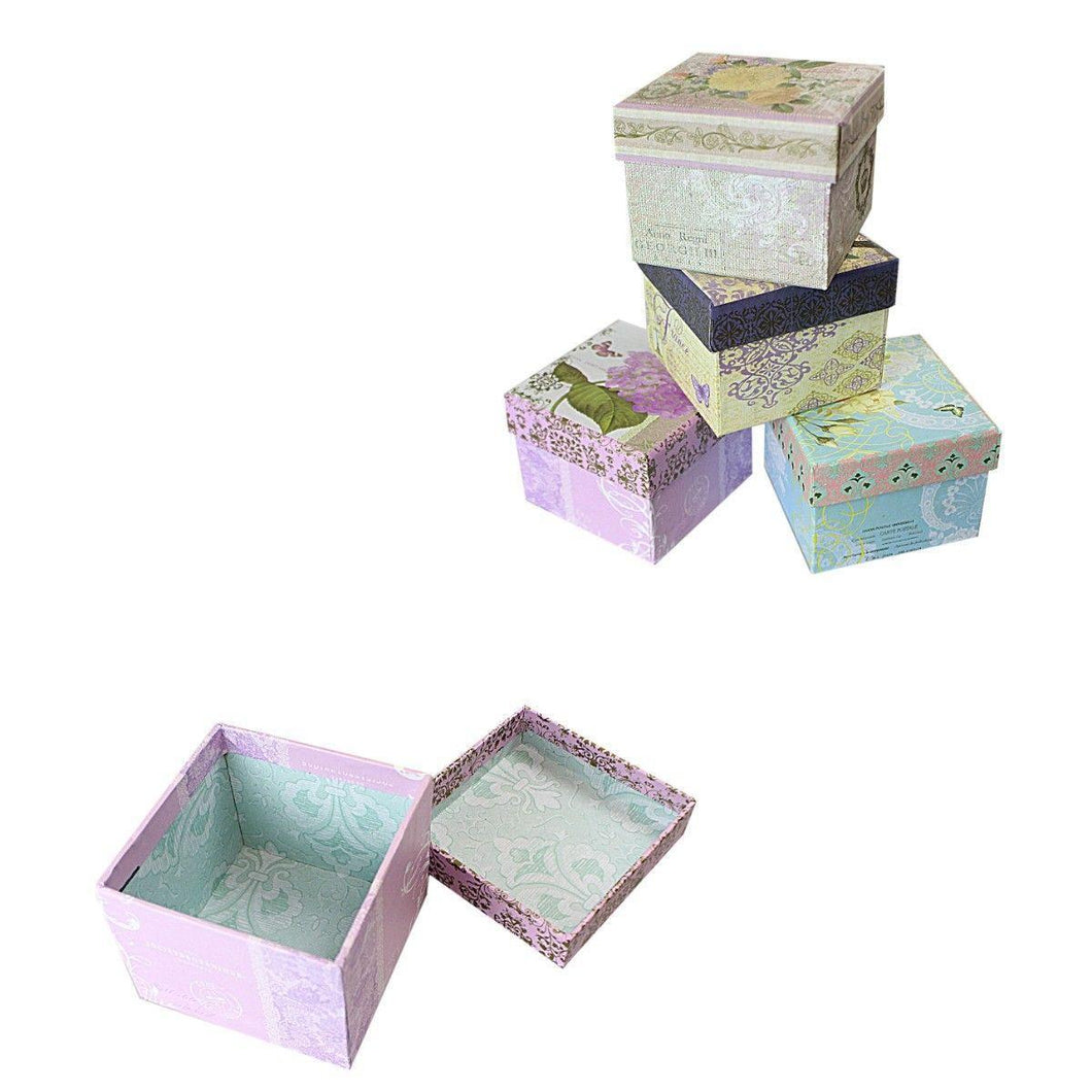 Assorted Colour/Design Jewellery Gift Boxes Ideal Gift Boxes 7.5cm x 6cm   2929 (Parcel Rate)