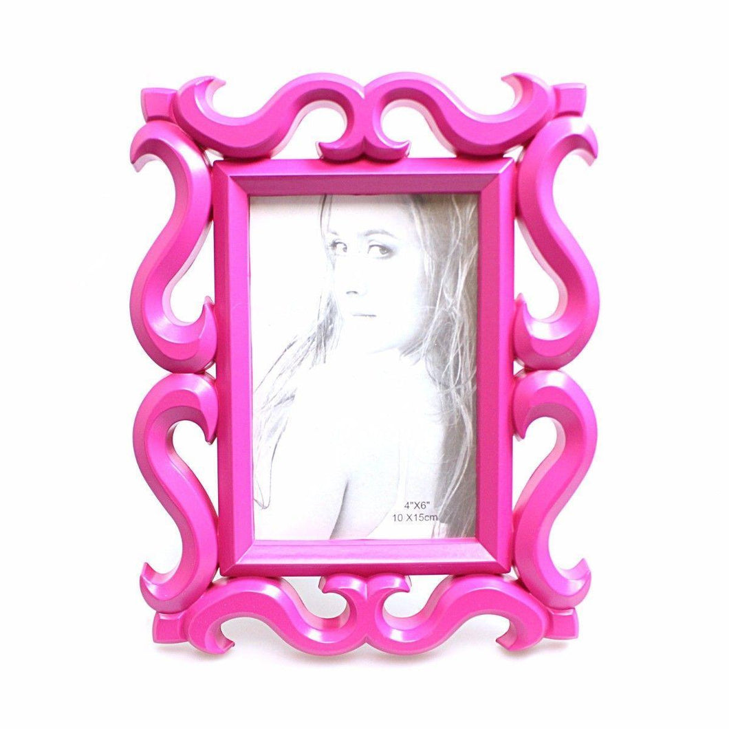 Picture Photo Frame  4'' x 6'' Ideal For Portraits Hot Pink 3133 (Parcel Rate)