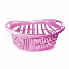 Load image into Gallery viewer, Oval Shaped Plastic Laundry Basket In Assorted Colours 53cm x 20cm Home 0255 (Parcel Rate)