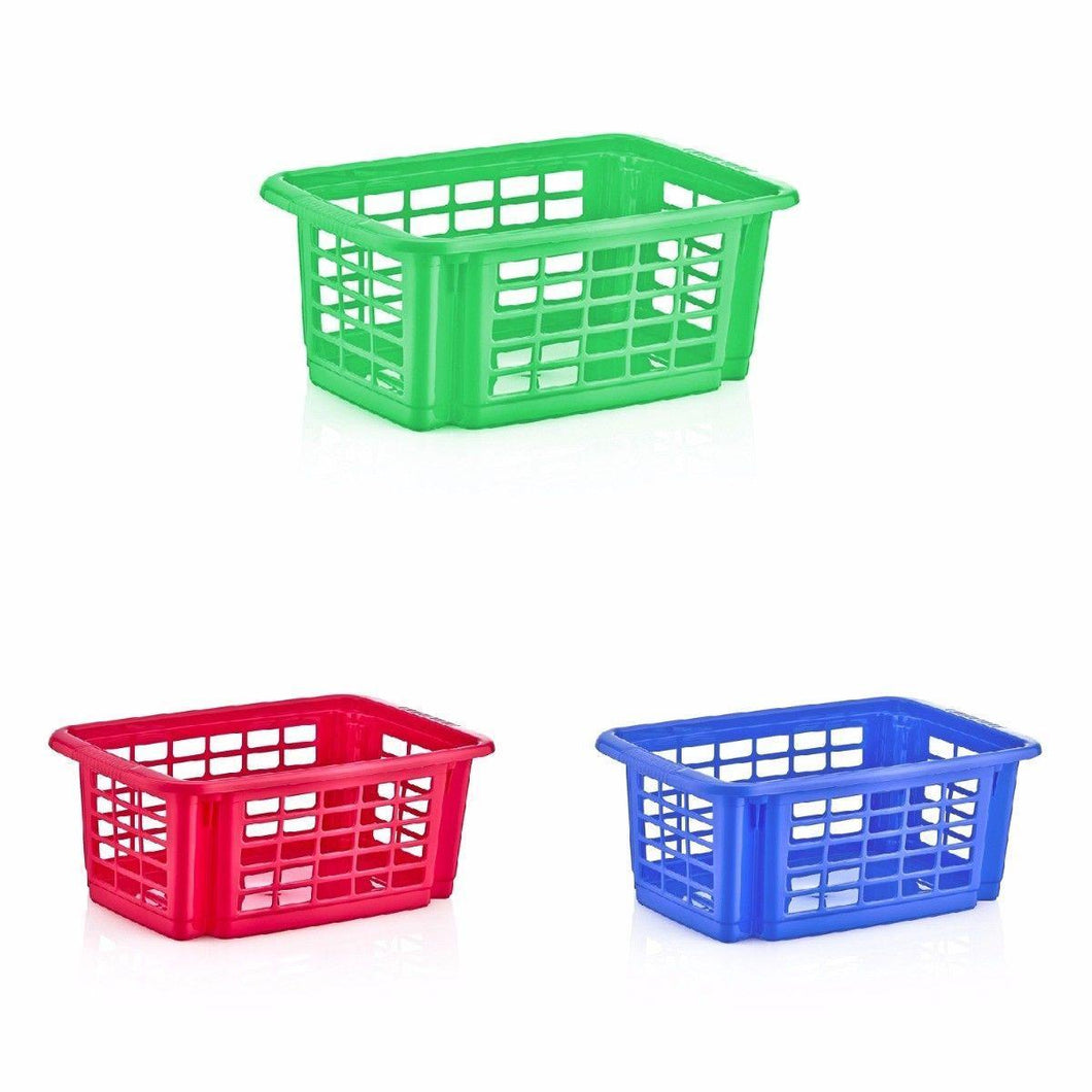 Plastic Basket Stacker, Kitchen Stacker Basket In Assorted Colours 41cm x15cm   5507 (Parcel Rate)
