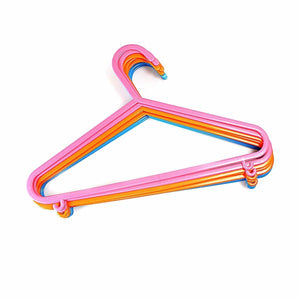 Pack Of 8 Basic Plastic Assorted Colour Hangers 29cm   4081 (Parcel Rate)