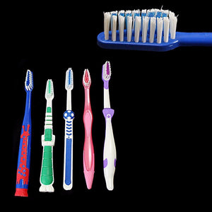 Pack Of 5 Childrens Assorted Colour Soft Oral Care Toothbrushes 8804 (Large Letter Rate)