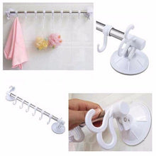 Load image into Gallery viewer, Towel Bar Suction Cup Adjustable Rail Gold Quality 180 Degrees Rotated 0873 (Parcel Rate)