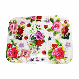 Plastic Serving Tray Assorted Designs 38cm x 28cm  4292 (Parcel Rate)
