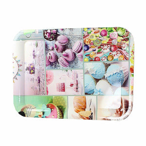 Large Plastic Serving Tray Assorted Designs 30cm x 22cm 4291 (Parcel Rate)
