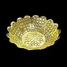 Load image into Gallery viewer, Gold and Silver Plated Plastic Baskets for Multipurpose Use 16.5cm  3441 (Parcel Rate)