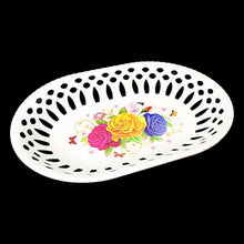 Load image into Gallery viewer, Fancy Floral Printed Plastic Serving Tray 31cm x 22cm   3217 (Parcel Rate)