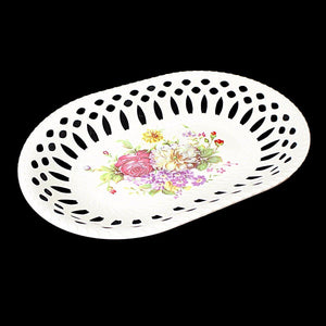 Fancy Floral Printed Plastic Serving Tray 31cm x 22cm   3217 (Parcel Rate)