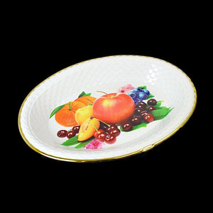 Floral Fancy Plastic Fruit Print Tray, Serving Tray Dish 28cm x 20cm   1092 (Parcel Rate)