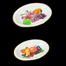 Load image into Gallery viewer, Floral Fancy Plastic Fruit Print Tray, Serving Tray Dish 28cm x 20cm   1092 (Parcel Rate)