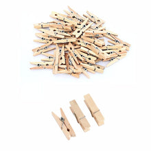 Load image into Gallery viewer, 22 Pack Small Wooden Washing Pegs 3.5cm Home 3070 (Large Letter Rate)