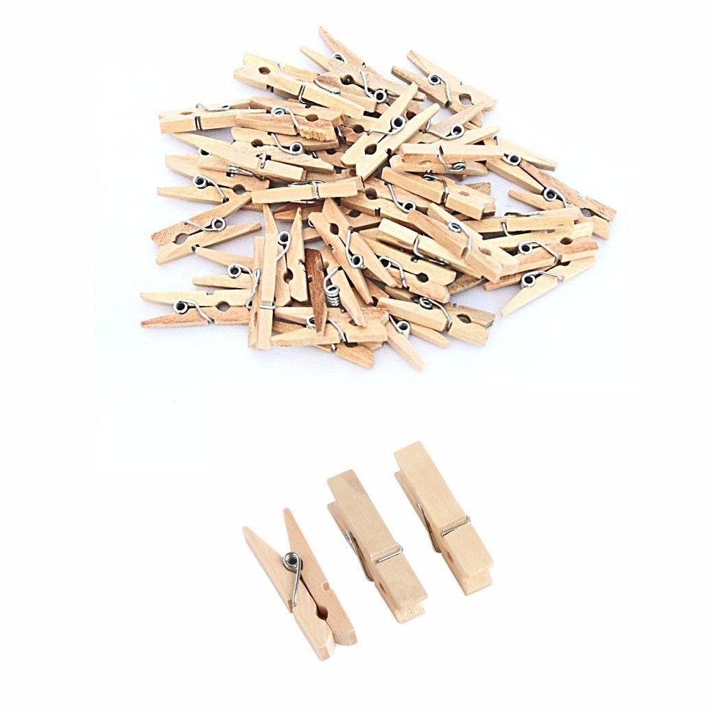 22 Pack Small Wooden Washing Pegs 3.5cm Home 3070 (Large Letter Rate)