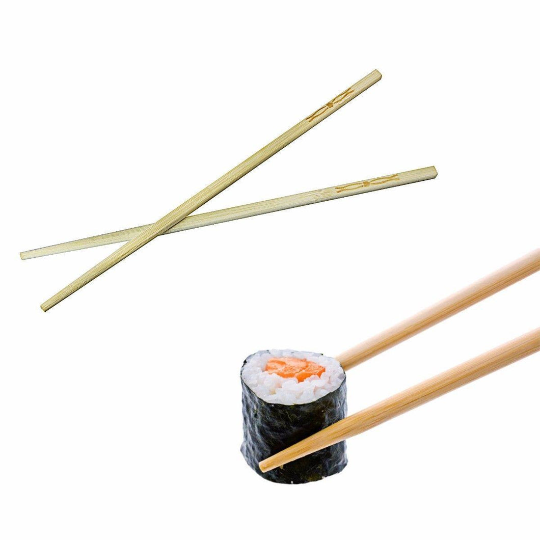 High Quality Wooden bamboo Pack Of 5 Chopsticks Ideal For Sushi 24cm 2357 (Large Letter)