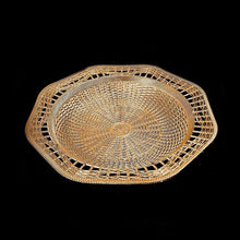 Load image into Gallery viewer, Plastic Rattan Styled Designer Tray Ideal For Snacks 28.5cm Kitchen 0728 (Parcel Rate)