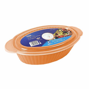 Fusion Hygienic Oval Microwave Stackable Food & Meal Preparation Containers With Lids (Parcel Rate)