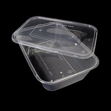 Load image into Gallery viewer, 5 Hygienic Rectangular Stackable Food & Meal Preparation Containers With Lids 7015 (Parcel Rate)