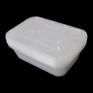 6 Hygienic Stackable Food & Meal Preparation Containers With Lids 500ml  7014 (Parcel Rate)