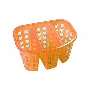 Plastic 3 Column Kitchen Sink / Bathroom Organiser Caddy Assorted Colours 11cm x 16cm 0386 (Parcel Rate)