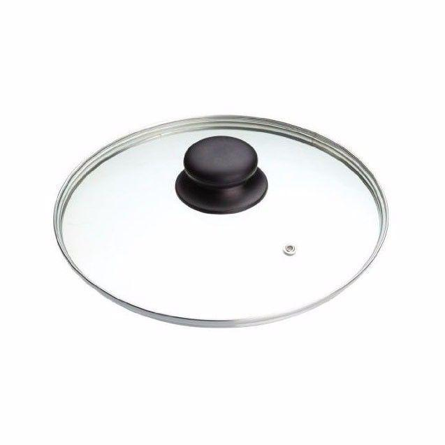 22cm Clear Glass Pan Lid With Knob Replacement Pan Lid  0785 (Parcel Rate)