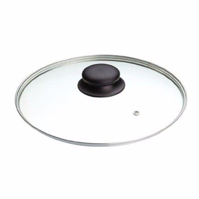 36cm Clear Glass Pan Lid With Knob Replacement Pan Lid   0792 (Parcel Rate)