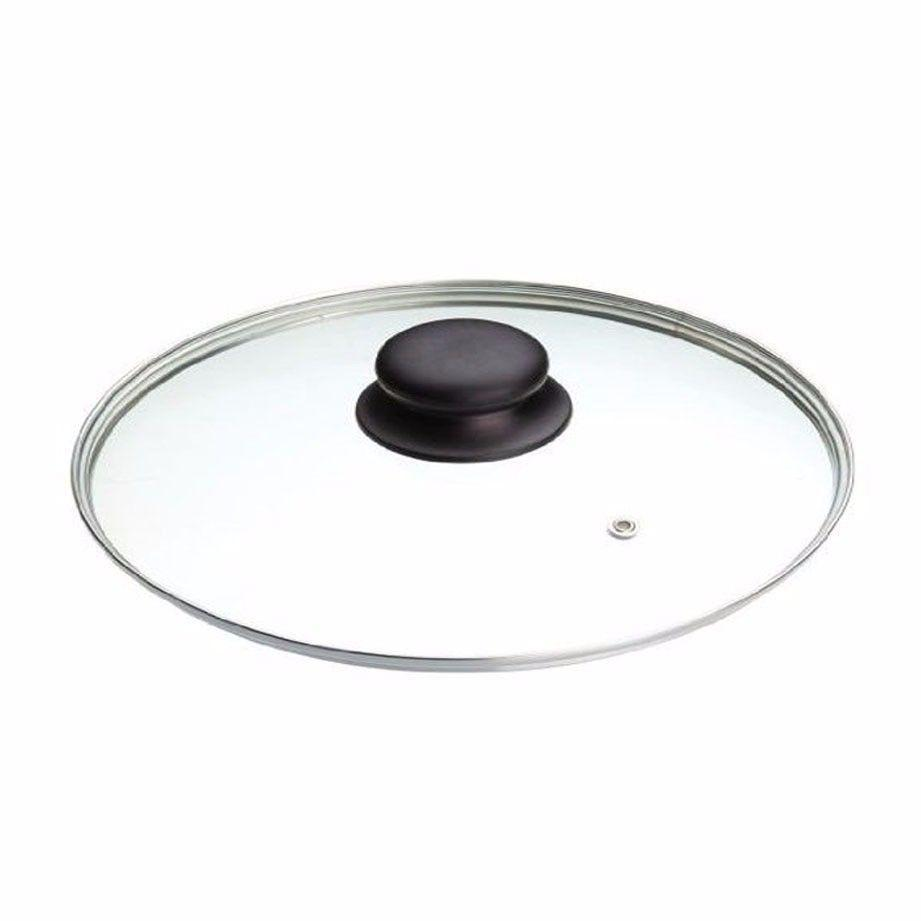 40cm Clear Glass Pan Lid With Knob Replacement Pan Lid   9985 (Big Parcel Rate)