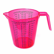 Load image into Gallery viewer, 1.5L Plastic Measuring Jug In Green Blue Purple Red & Clear Kitchen/Catering  3512 (Parcel Rate)