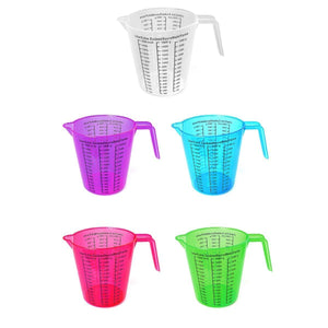 1.5L Plastic Measuring Jug In Green Blue Purple Red & Clear Kitchen/Catering  3512 (Parcel Rate)