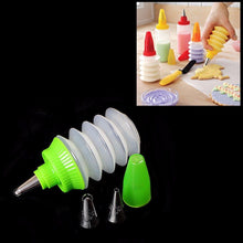 Load image into Gallery viewer, Cake Cookie & Cupcake Decorating Kit Including Squeeze Bottle & 3 Nozzles Set Home Kitchen 0112 (Parcel Rate)