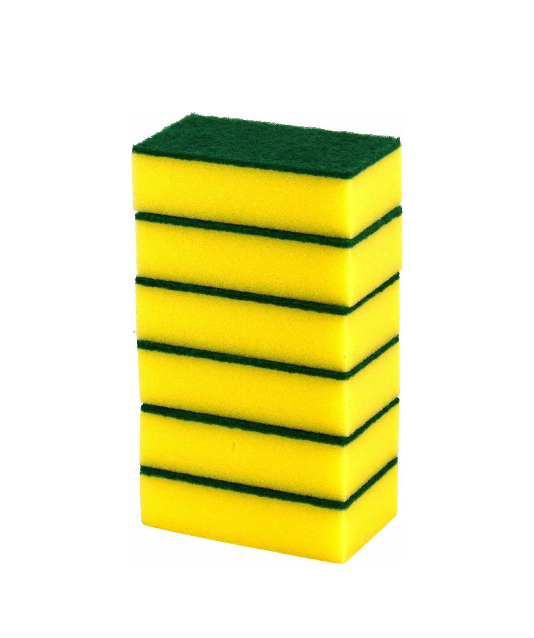 6 Pack Accord Industrial Large Sponge Indoor Outdoor Car Cleaning Yellow Sponge 15 x 4cm