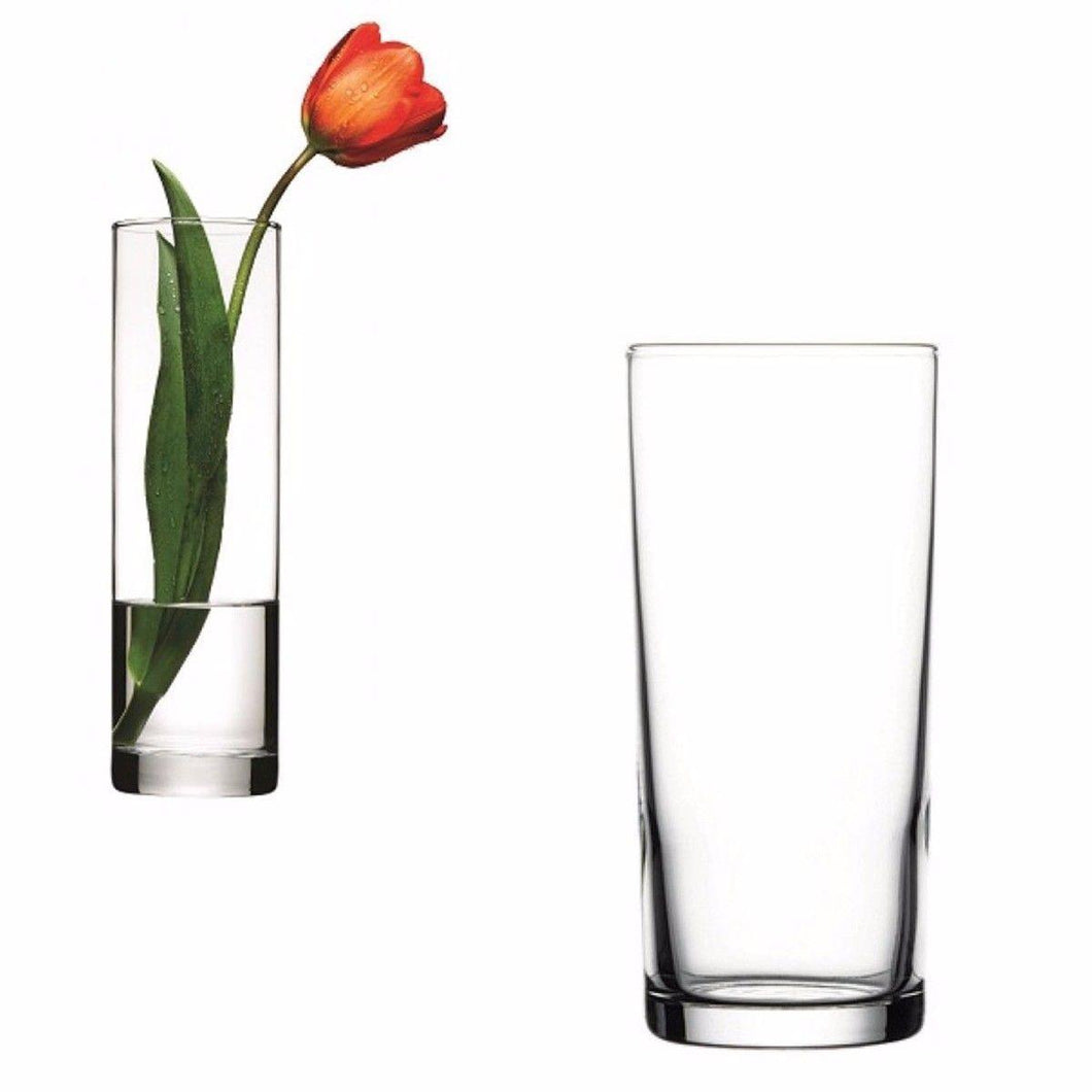 Simple Clear Glass Flower Vase Multi Purpose Use 265mm Home 43767 (Parcel Rate)