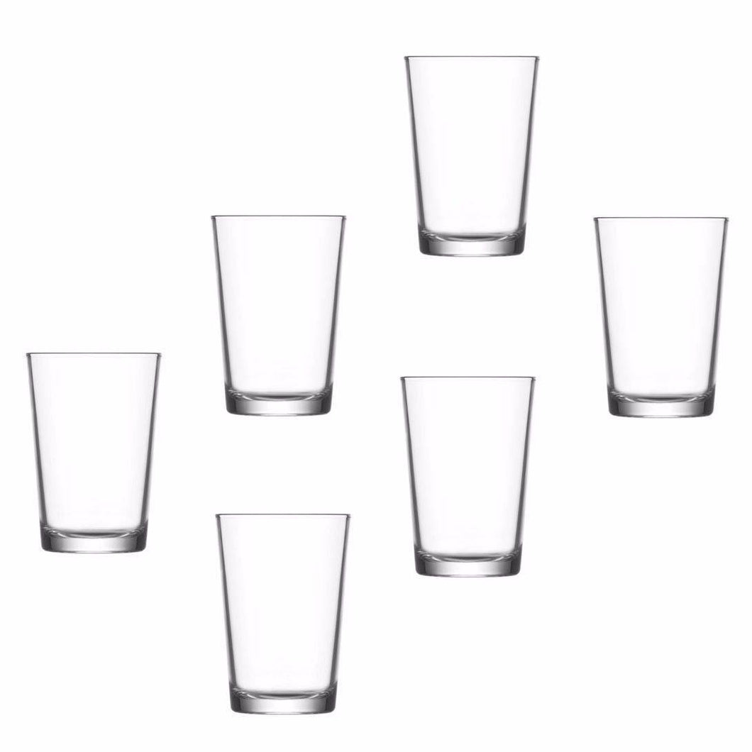 Pack Of 6 Drinking Glasses Water 205cc Home Kitchen 0023 (Parcel Rate)