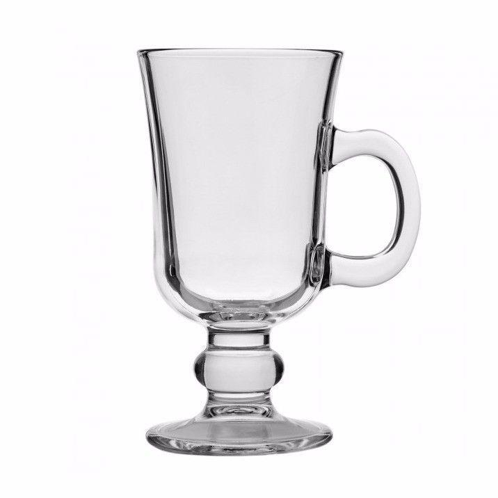Set Of 2 Glass Latte Tea Coffee Elegant Drinking Glass Mugs 220ml (7 3/4 oz) 55141 (Parcel Rate)