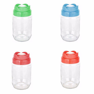 1000ml Tulip Styles Glass Jar, Bottle With Lid For Food, Oil, Pickling Jar 3228 (Parcel Rate)