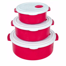 Load image into Gallery viewer, Durable Airtight Set Of 3 Stackable Handled Kitchen Containers 9421 (Parcel Rate)