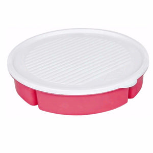 Plastic Multi 5 Section Snack Chip & Dip Bowl Platter With Airtight Lid  9394 (Parcel Rate)