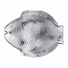 Load image into Gallery viewer, Marine Clear Glass Fish Style Shaped Fancy Small Service Plate 20cm x 16cm  10256 (Parcel Rate)