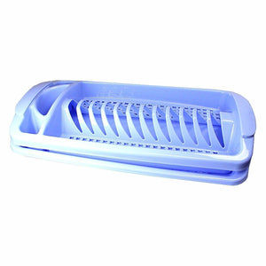 blue single dish drainer with tray attached   6384 (Parcel Rate)