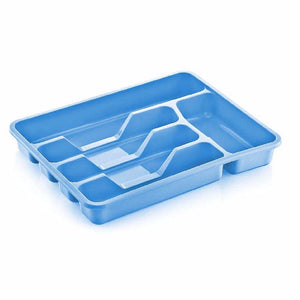 Assorted coloured multi purpose use large cutlery tray Approx 38.5cm x 30.5cm    4001 (Parcel Rate)