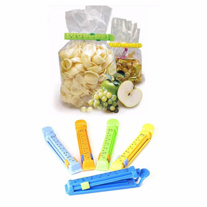 4 Assorted Colour Food Bag Clip With Ruler Markings   3068 (Large Letter Rate)