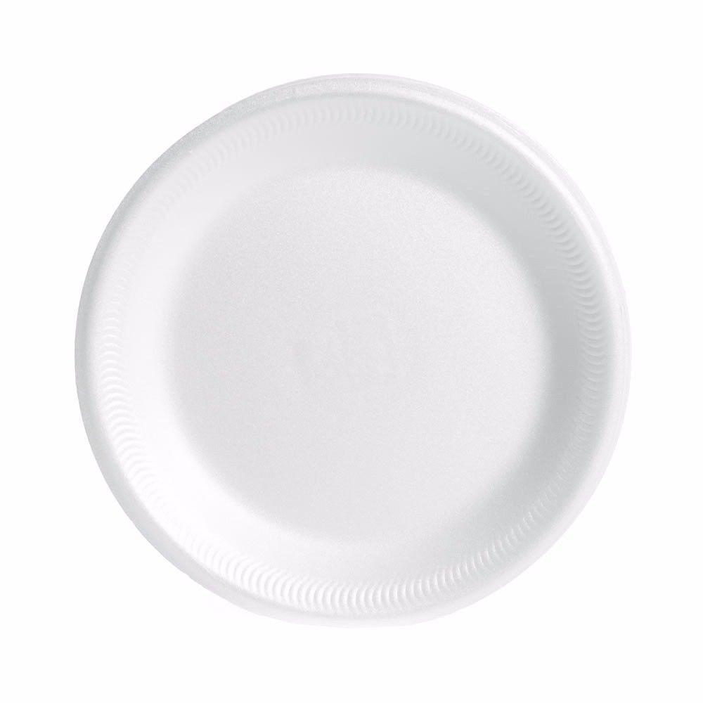 White Insulated Disposable Party Special Occasion Plates 9'' (23cm) Pack Of 20 9185 (Parcel Rate)