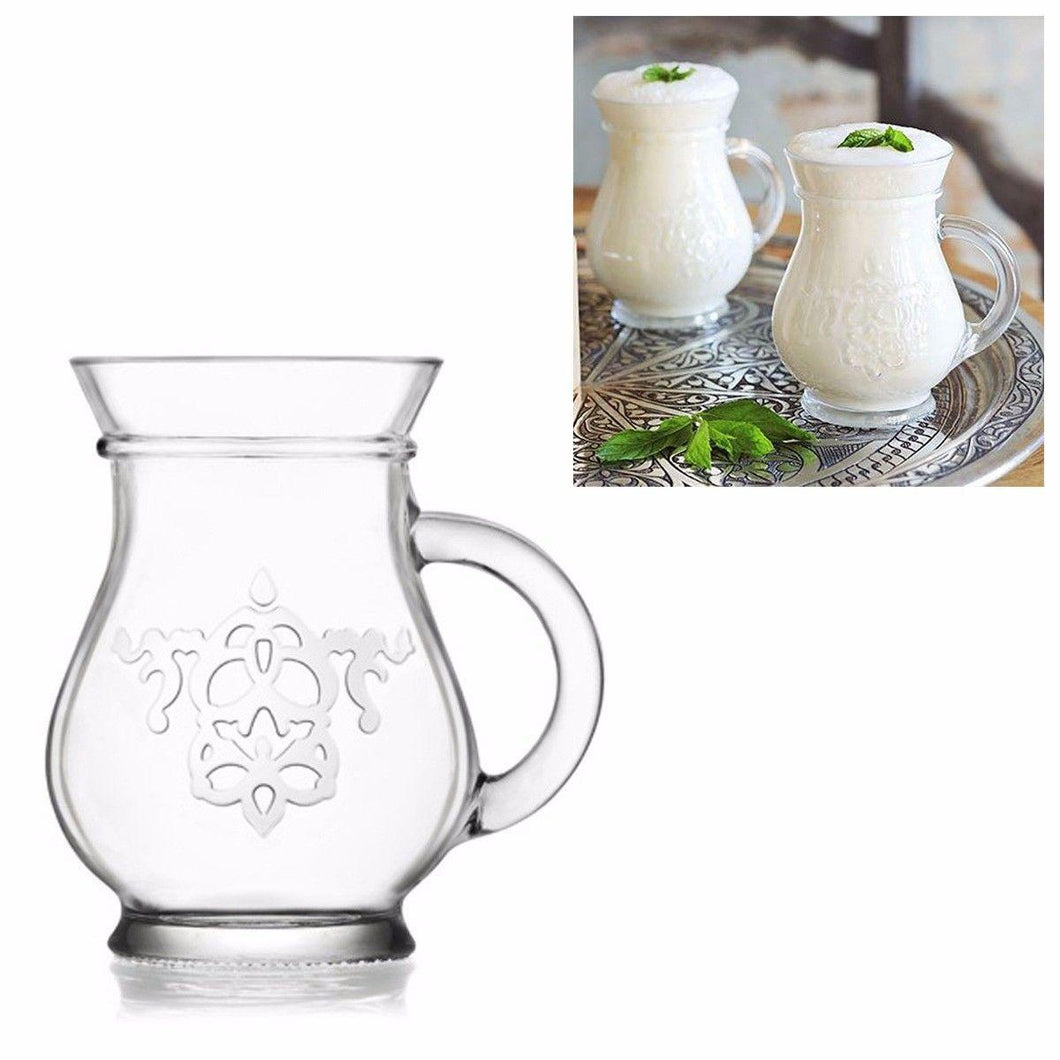2 Piece Patterned Glass Jugs 330cc 11 1/4oz  9255 (Parcel Rate)
