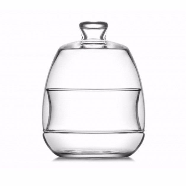 1 Piece High Quality Glass Sugar Bowl 255cc 8 1/2 oz 7875 (Parcel Rate)