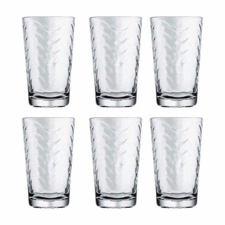 Toros Set Of 6 Long Drinking Glass 52654 (Parcel Rate)