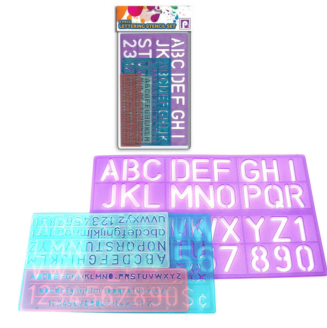 4 Piece Alphabet Lettering Stencil Set For Children And Students P2428 (Large Letter Rate)