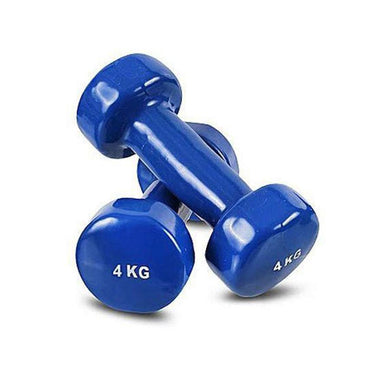 1 Piece 4kg Vinyl Dumb Bell Solid Aerobic Training Weights Strength Home 4592 (Big Parcel Rate)