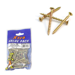 5.0 x 50 Pozi c/sk Chipboard Screws Diy xtra value 5307 (Large Letter Rate)